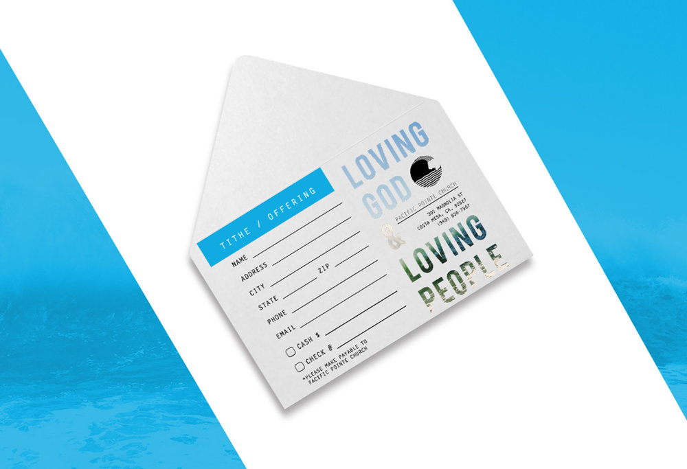 Pacific Pointe Church Envelopes