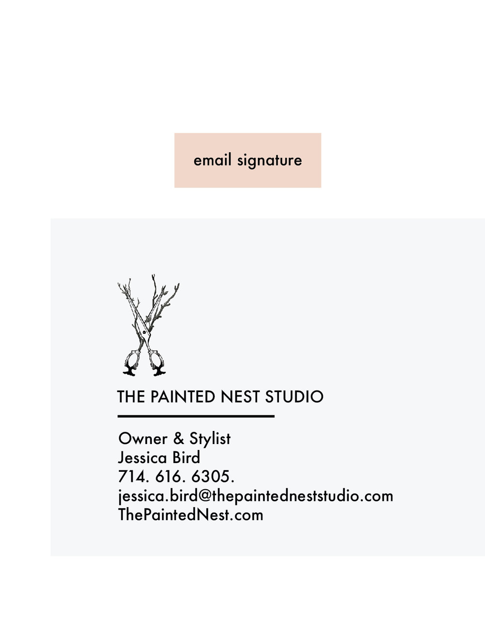 the painted nest studio email signature
