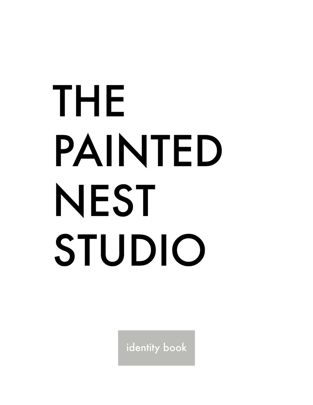 the painted nest studio identity book