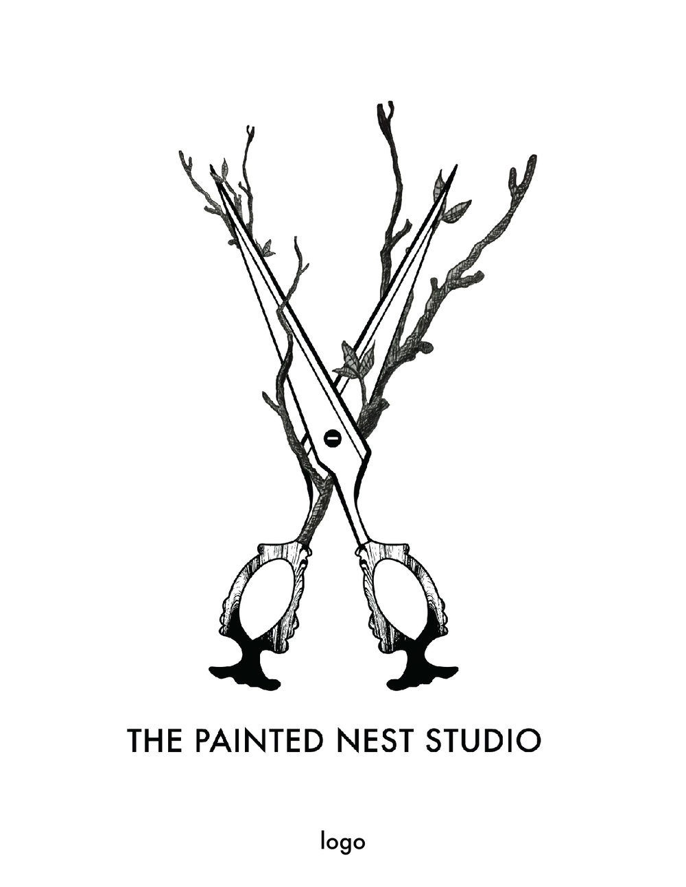 the painted nest studio logo