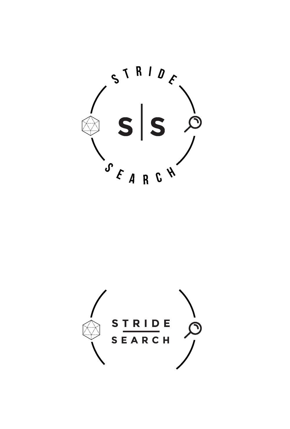 stride search concept 4 circle logo design