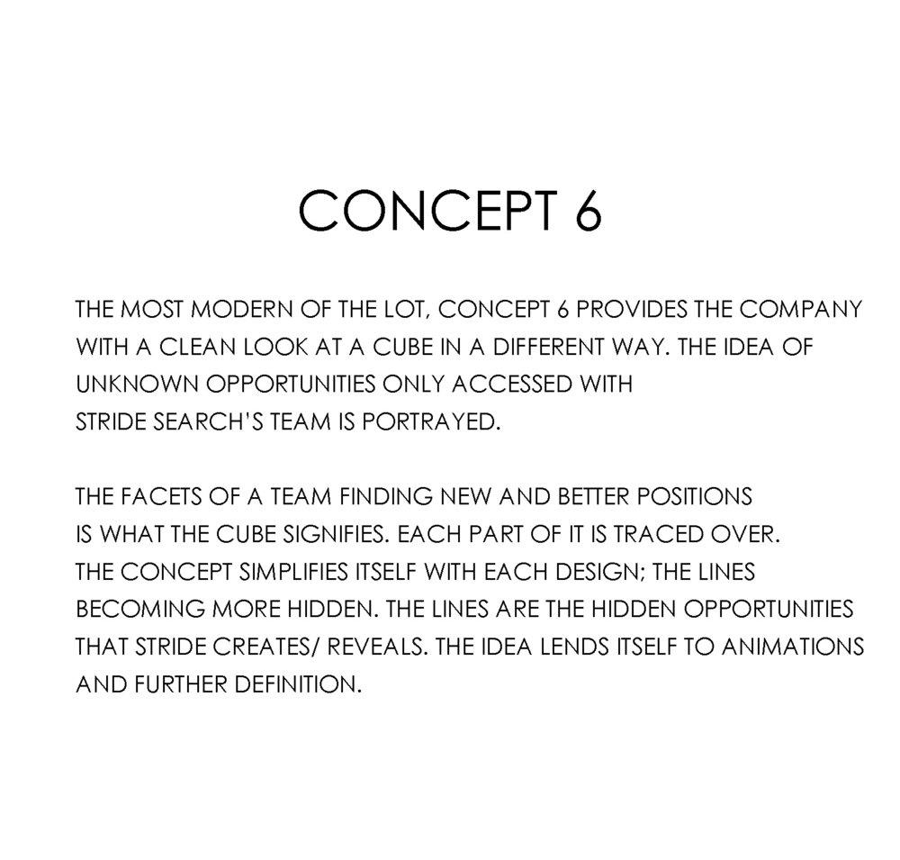 stride search concept 6 geometric logo