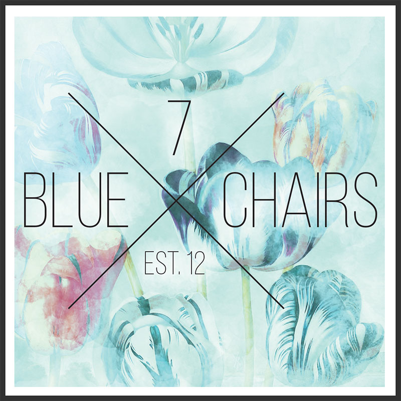 7 Blue Chairs