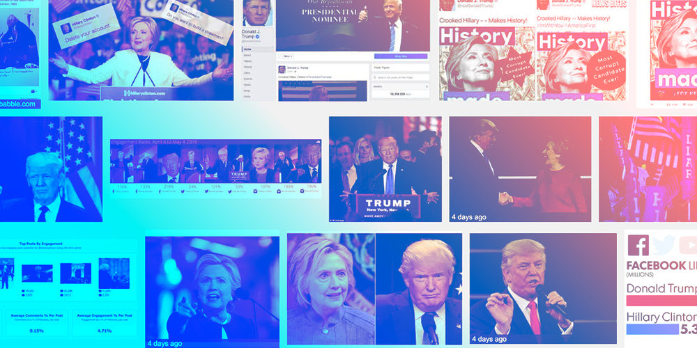 "Examples of Trump branding the term ""Crooked Hillary"" from Google's search results"