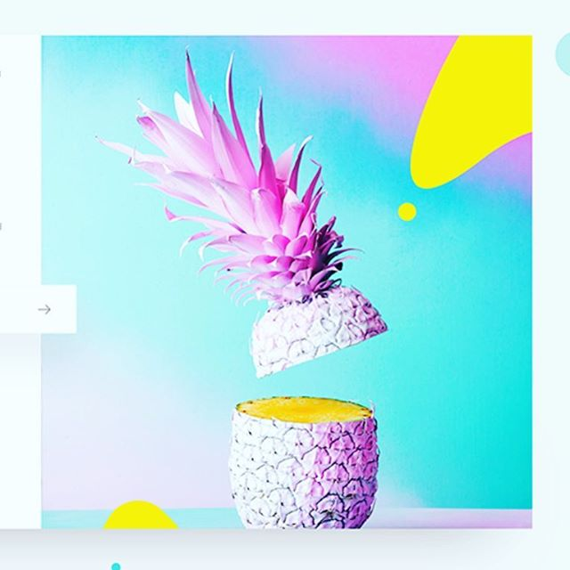 Who else loves the design age we are in ?! PC CAPTICO #designinspo #design #graphicdesign #graphic #pineapple #opaque #gradient #pink #blue #yellow #designinspiration
