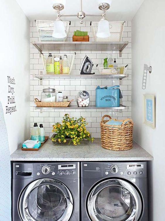 5 Inspirational Small Space Laundry Rooms — Cole\'s Appliance and ...