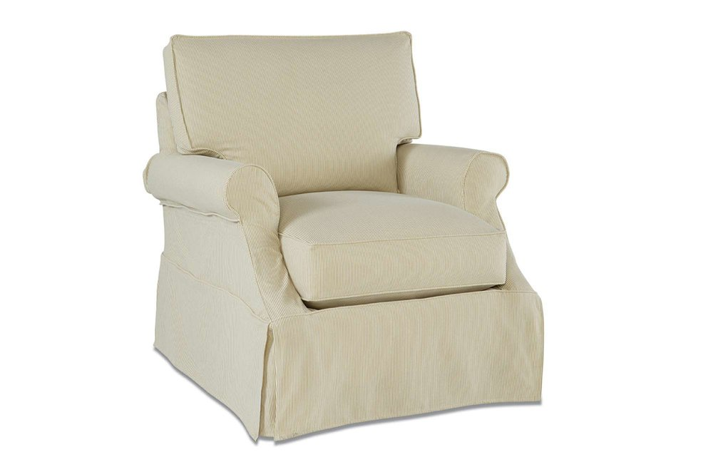 Beatrix Slipcover Swivel Glider (click for details)