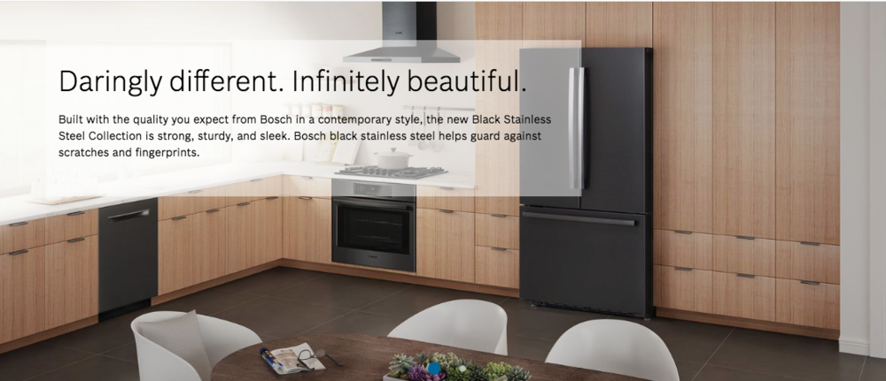 Bosch Black Stainless Steel Appliances