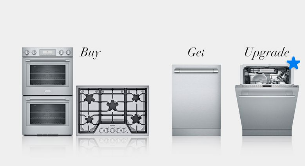 Professional or Masterpiece Cooktop & Wall Oven Suite - Buy any cooktop or rangetop plus a wall oven to receive a free Emerald® dishwasher. Or, upgrade to a Topaz®, Sapphire®, or Star-Sapphire® dishwasher starting from $400 each.