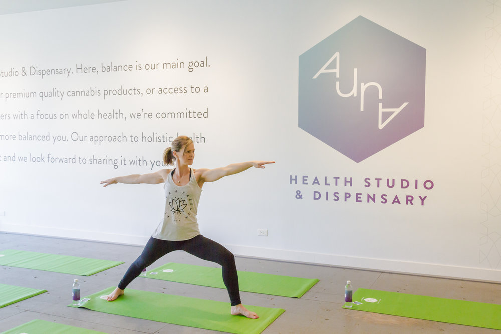 Yoga at  Aura Health Studio  in Vancouver
