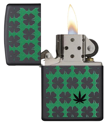 Clover and Leaf Lighter by Zippo