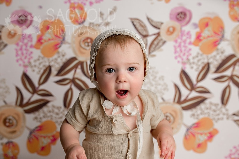 Vintage baby picture Fargo ND baby photographer Janna Sagvold Photography