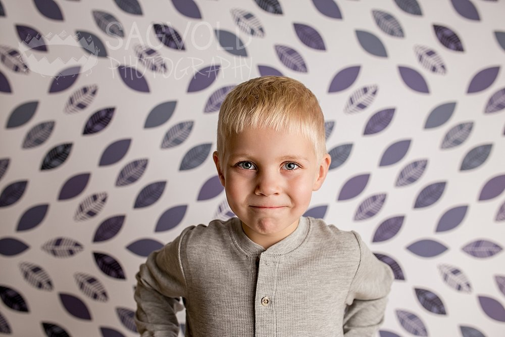 Five year old boy picture Fargo ND child photographer Janna Sagvold Photography