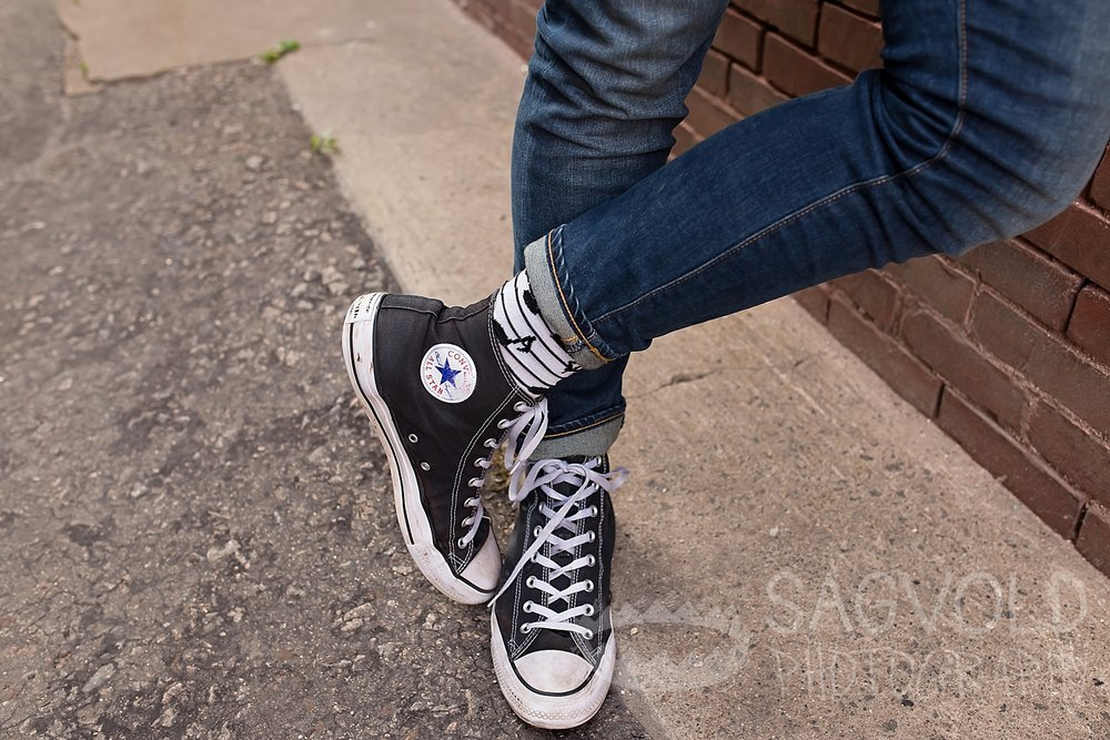 Converse® shoes Fargo ND senior photographer Janna Sagvold Photography