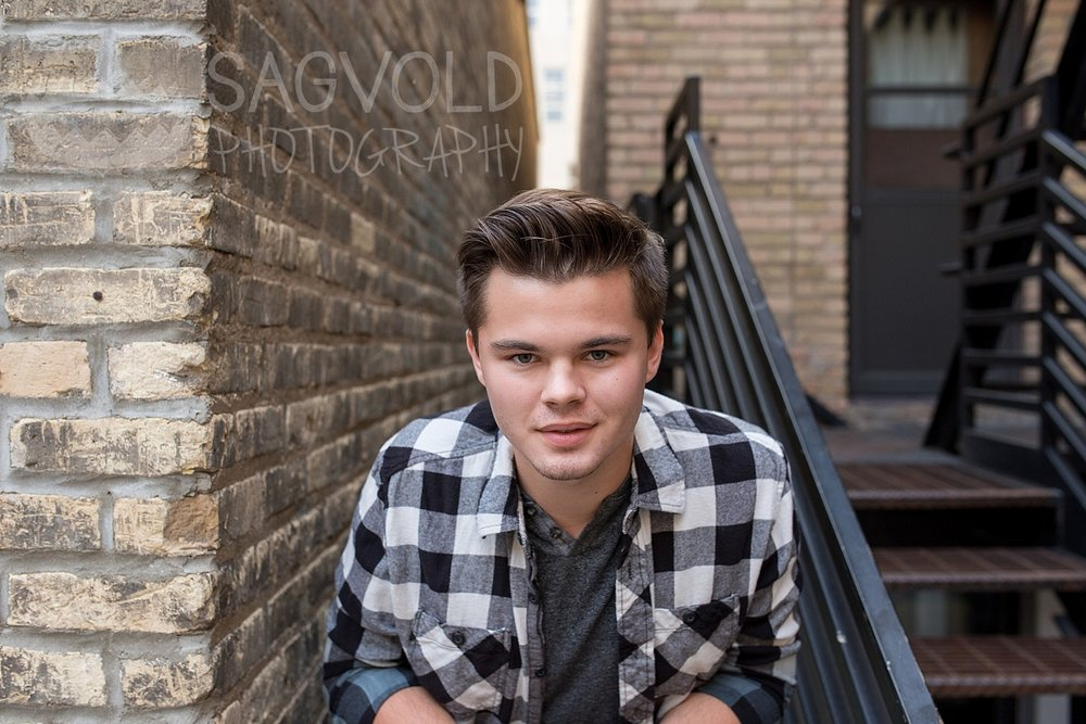 Senior boy Fargo ND senior photographer Janna Sagvold Photography