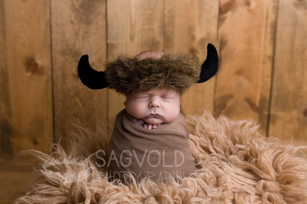 Newborn picture Bison Fargo ND newborn photographer Janna Sagvold Photography