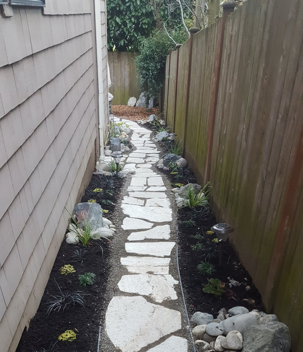 Stone Stairs And Flagstone Pathways