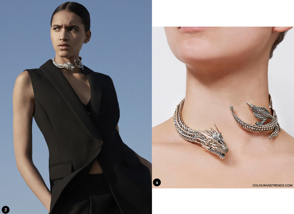 Game of thrones fierce dragon jewels colour trends for Daenerys jewelry season 7