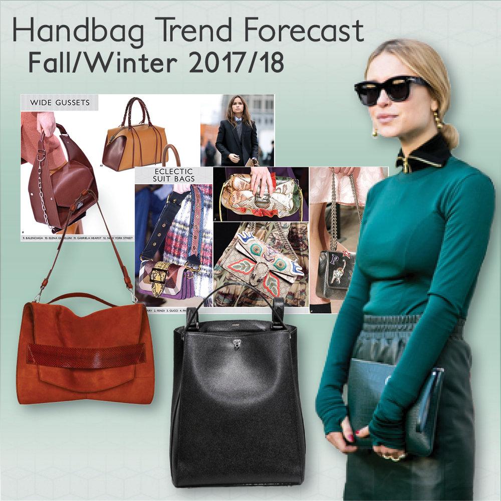 fall/winter 2017/18 handbag forecast — colour & trends