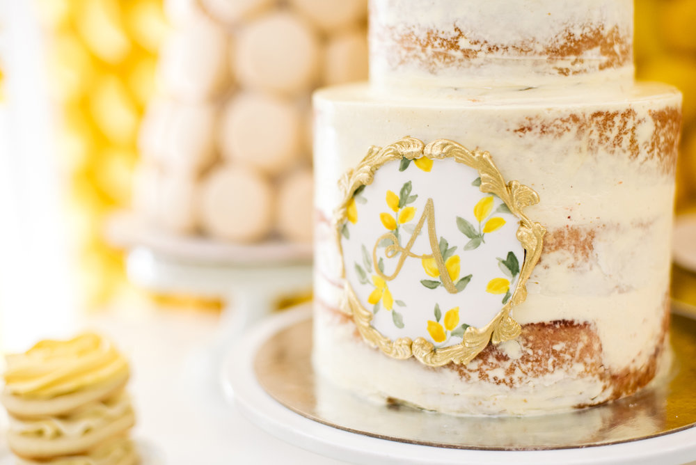 lemon-bridal-shower-cake