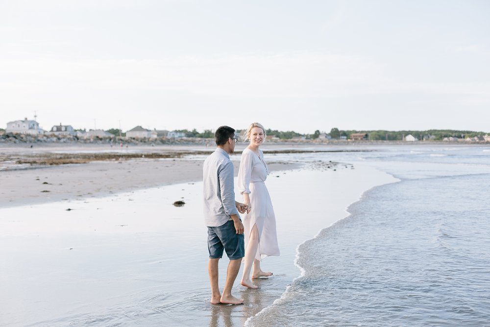 Rye Beach, New Hampshire Engagement Pictures | New Hampshire Photographer | New England Photographer | Madison Rae Photography