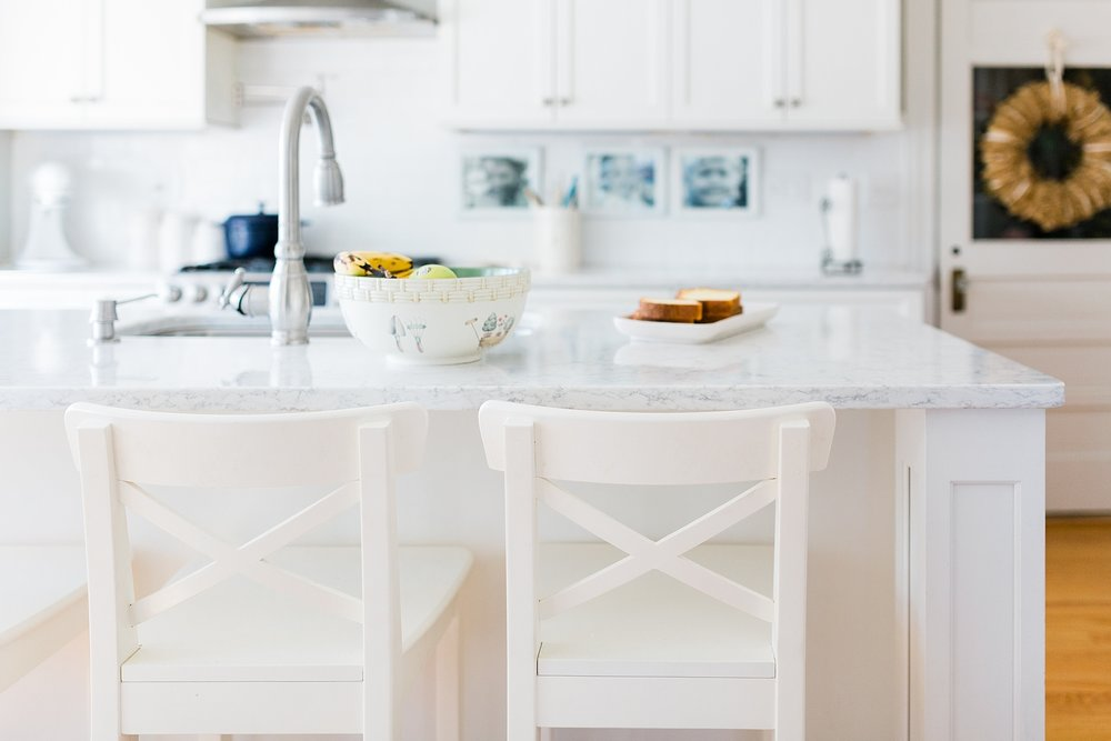 Bright White Kitchen - Interior Design - New England Home - Madison Rae Photography