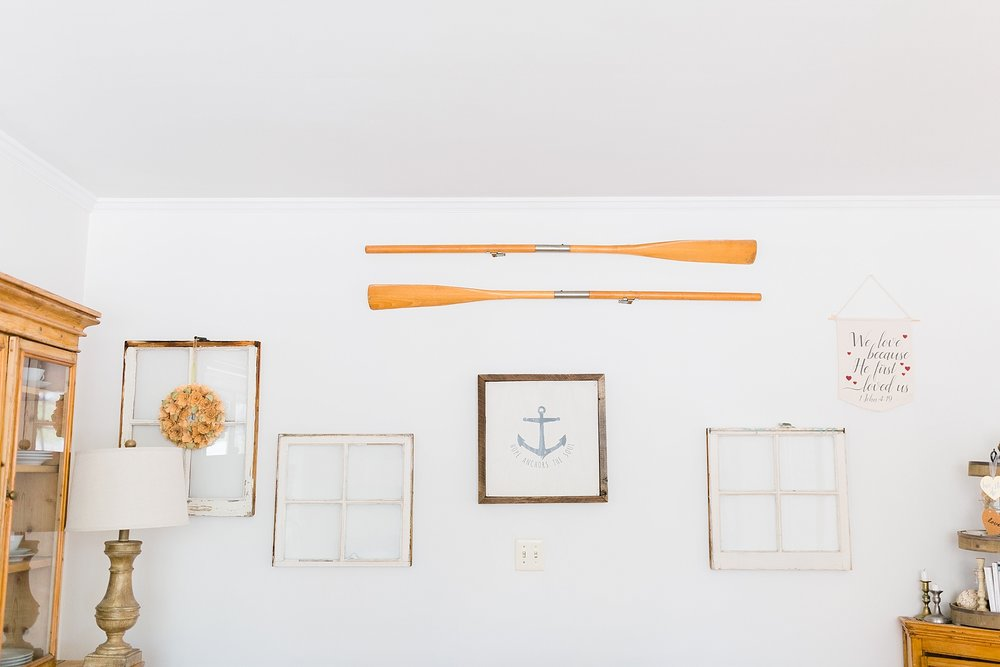 Nautical Themed Wall - New Hampshire Home - Madison Rae Photography