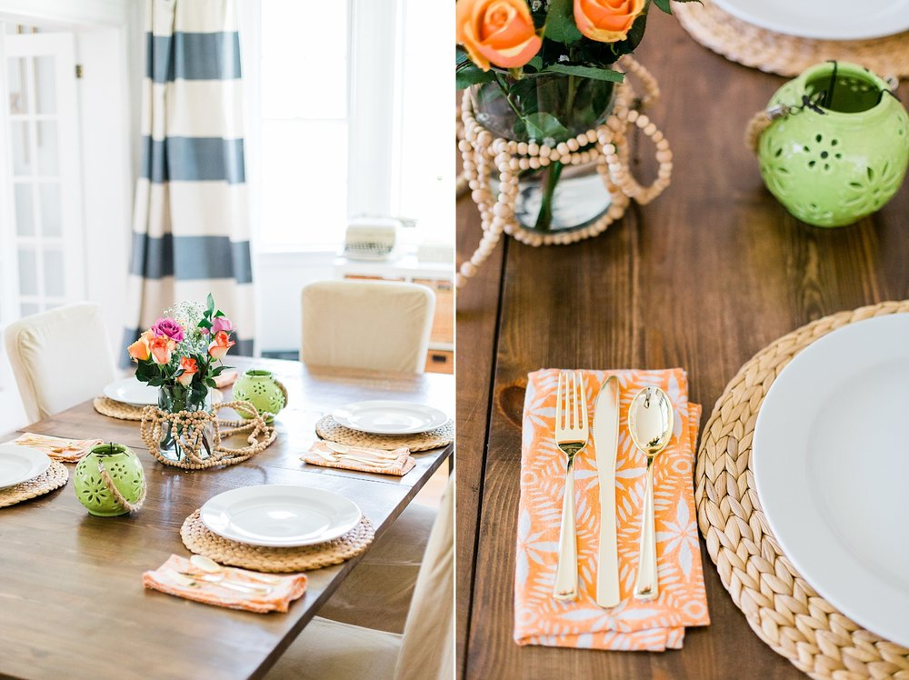Dining Room Table Decor - New Hampshire Home - Madison Rae Photography