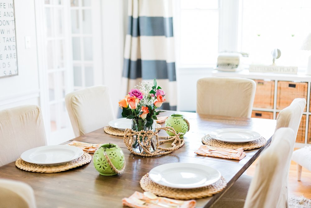 Dining Room Table - New Hampshire Home - Madison Rae Photography