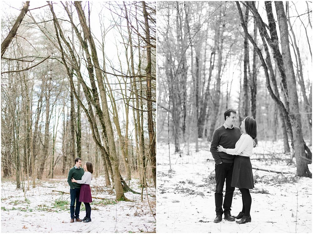 Snowy Engagement Session - New Hampshire Photographer - New England Wedding Photographer
