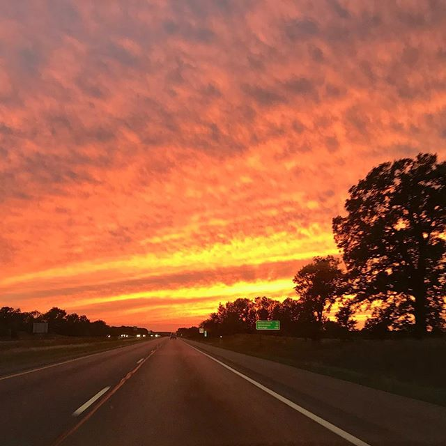 Such a beautiful Michigan sunset last night on our drive.  Cool breeze, hot coffee & this view.  A nice closing to a wonderful weekend! ☕️#euphoriacoffee #kalamazoo #sunset #michigan #coffee #falliscoming #orangesky