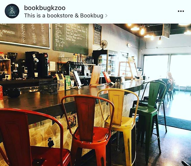 Have you been to This Is A Bookstore/Bookbug in Kalamazoo?  If you haven't, please add it to your list of things to do this weekend!  It's a wonderful locally owned bookstore with a warm cafe nestled inside serving hot coffee, pastries, soup, sandwiches and more! Support your local bookstore!  Check them out at @bookbugkzoo ! #kalamazoo #thisisabookstore #bookbug #local #cafe #euphoriacoffee #greatatmosphere #friendly #localfood #localcoffee #localbooks #whatsnottolove❤️