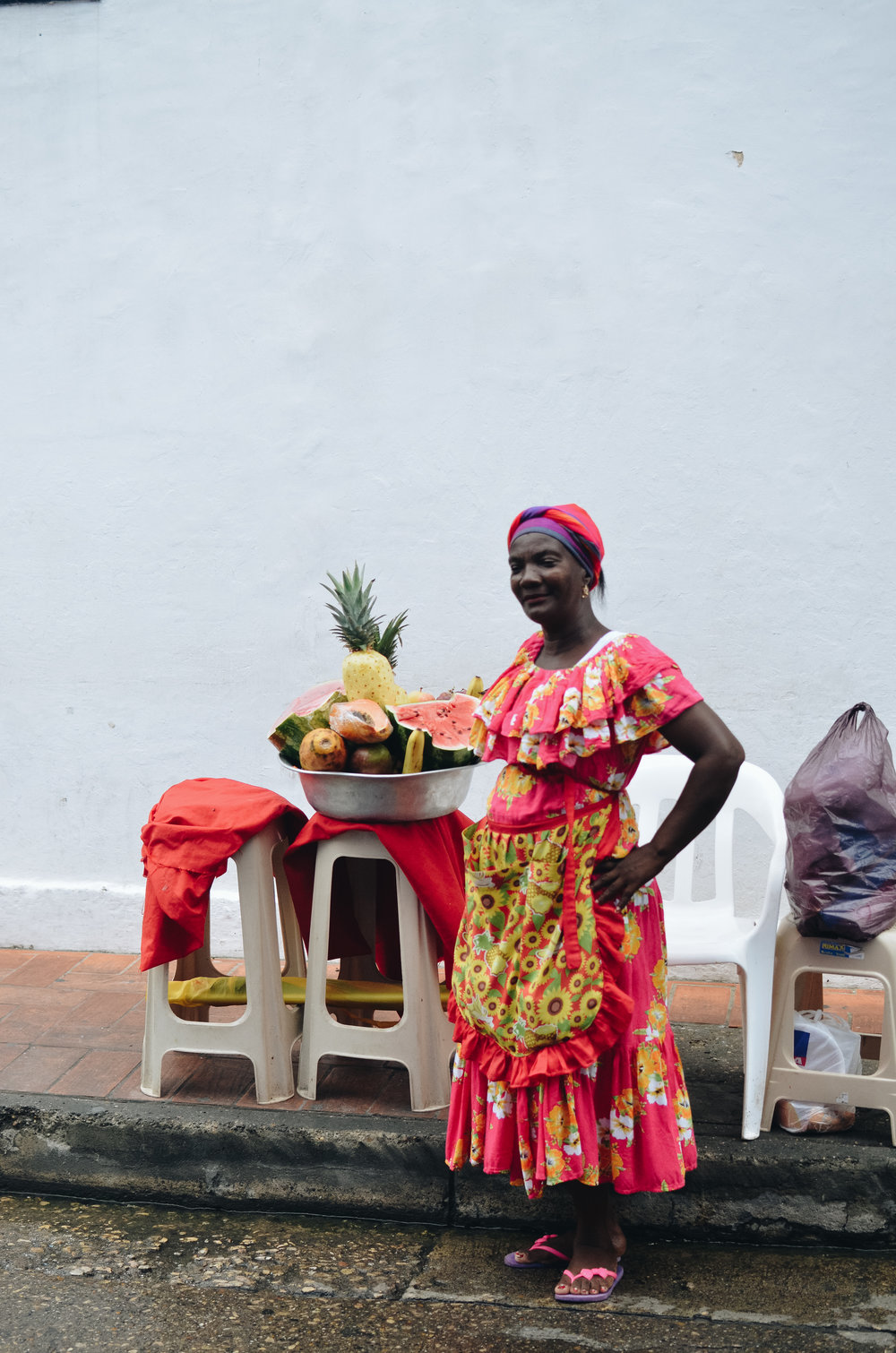 the city is known for the fruit sellers with colorful costumes. unfortunately now it seems the ladies are more of a tourist attraction for photo-ops, rather than a part of the city's fabric. we noticed this in a lot of countries.