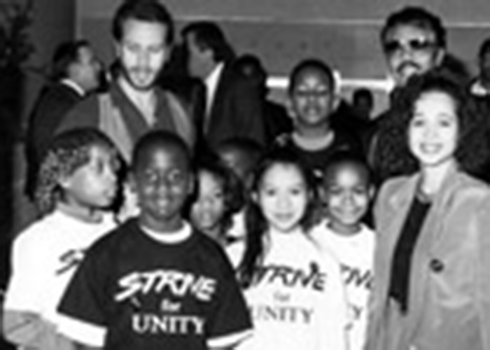 Jim (bearded) with kids in 1990