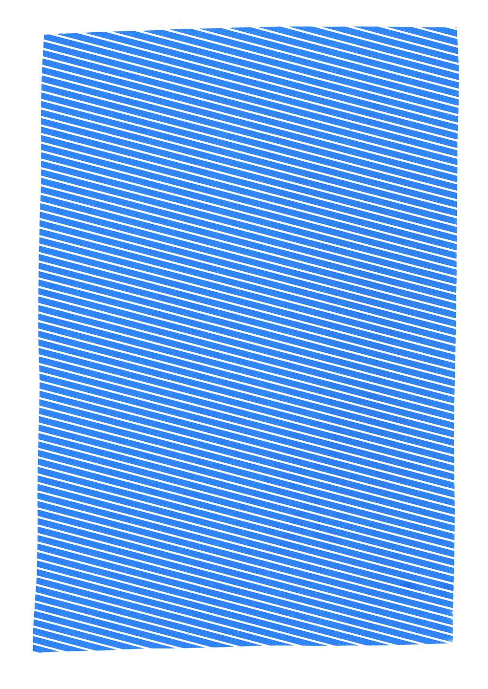 "Cyan study,2017, silkscreen, 19"" x 12.5"""
