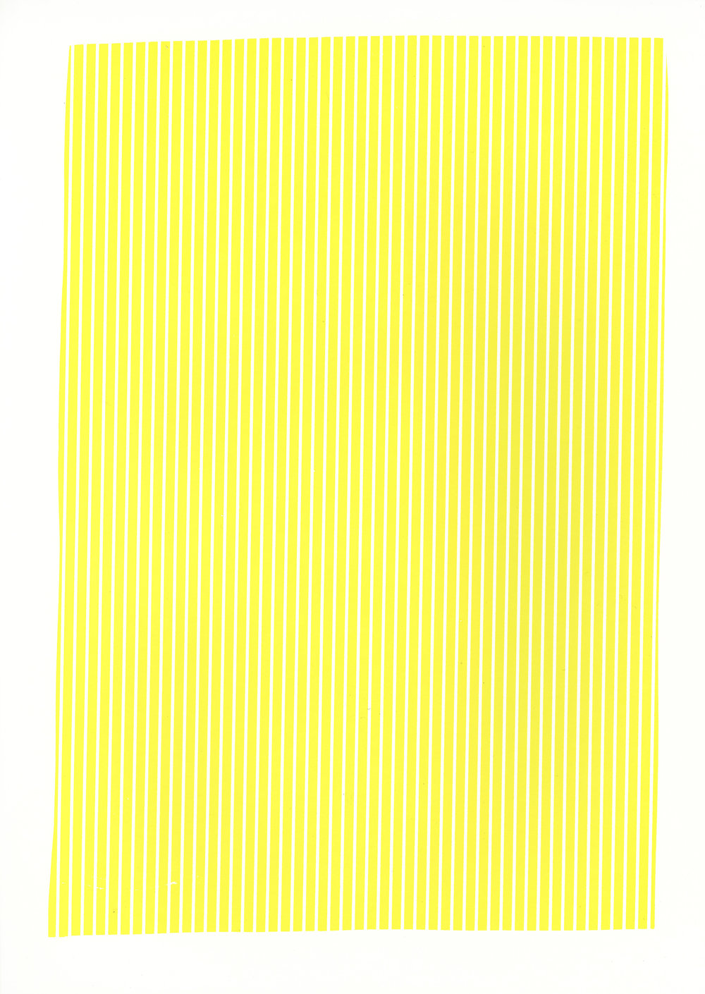 "Yellow study, 2017, silkscreen, 19"" x 12.5"""