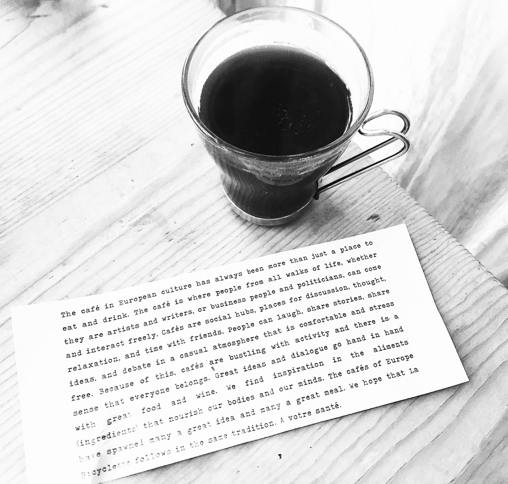Please read that piece of paper. It came with the coffee and made my day.