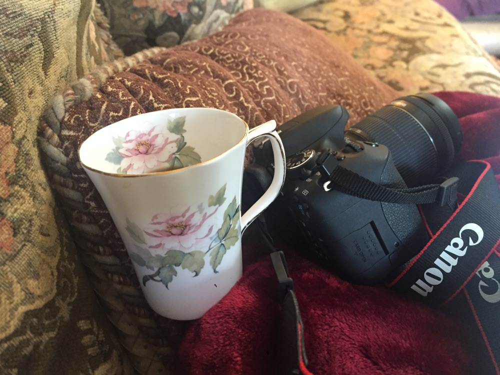 My camera and coffee... the 2 C's of life.