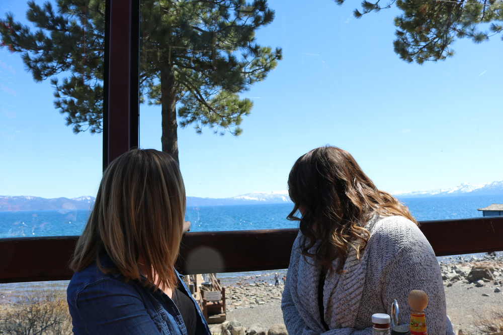 View from our table at Gar Woods - Lake Tahoe