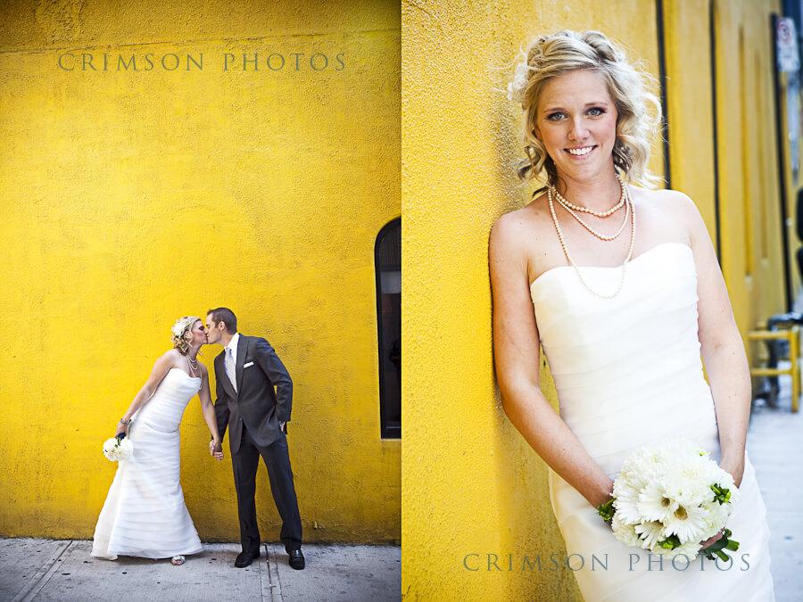 Wedding photos at the Berkeley Church, Toronto