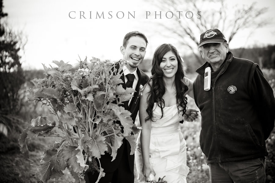 This farmer was so sweet. He allowed us to take pictures on his land - then he offered the bride & groom some quale..