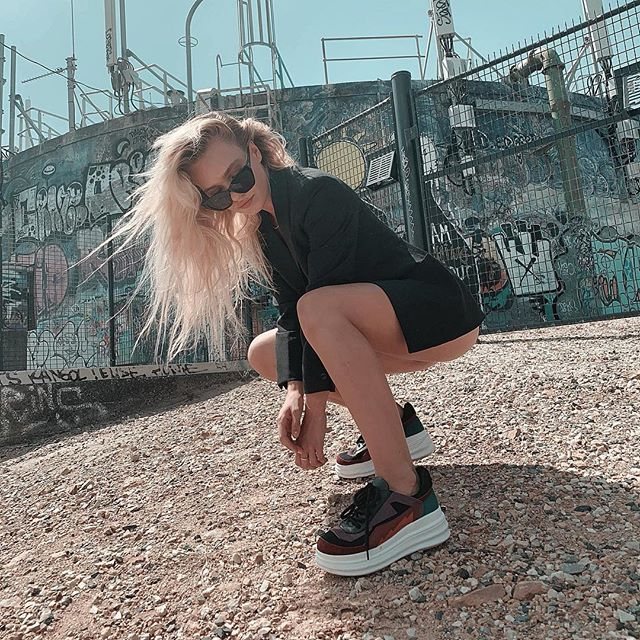 Reaching new heights wearing @aliasmae #ARIANA sneaker available online at Alias Mae now! #sneakeredit 🔥 photo @rubyctuesday