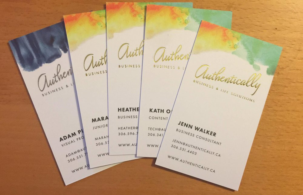 Authentically Biz cards