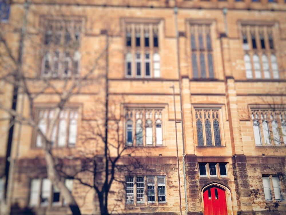 54. Red door