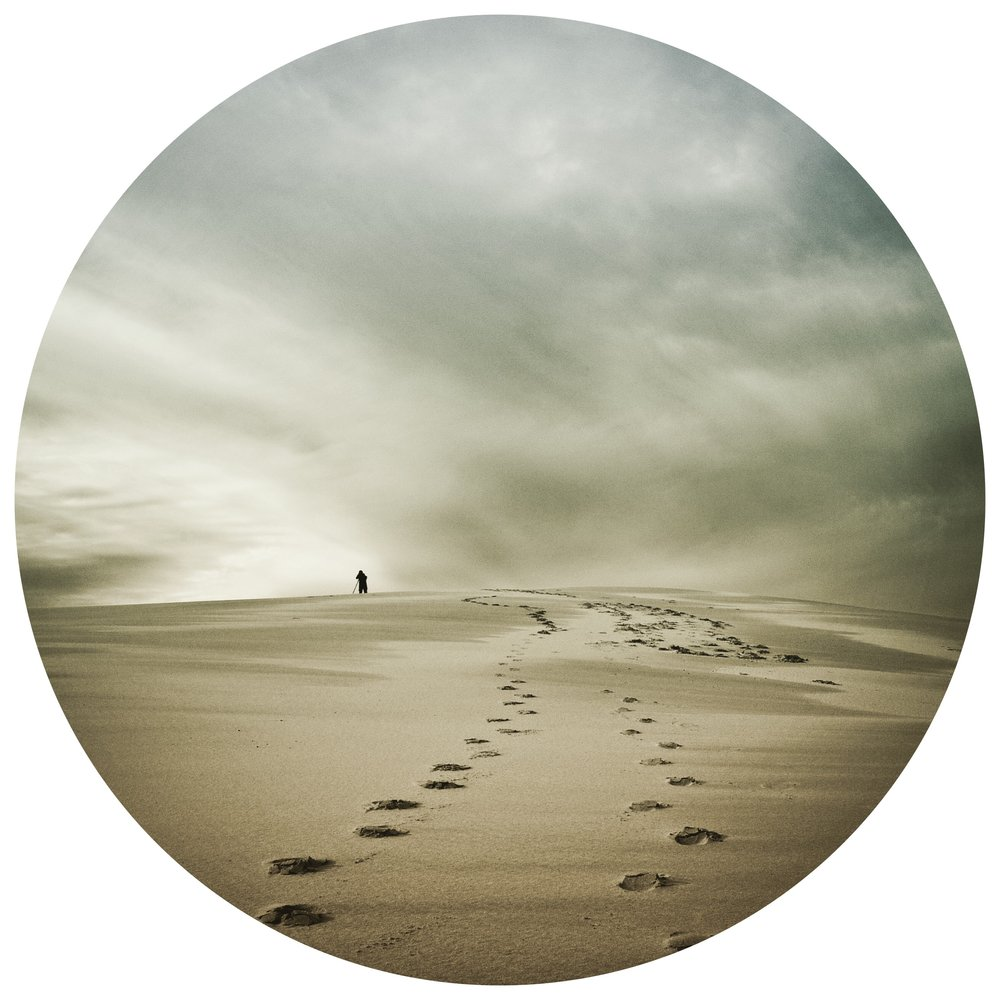 Footsteps to nowhere.  (Stockton Beach, Sand Dunes Newcastle) | #footprints   #longwaytothetop   #distance