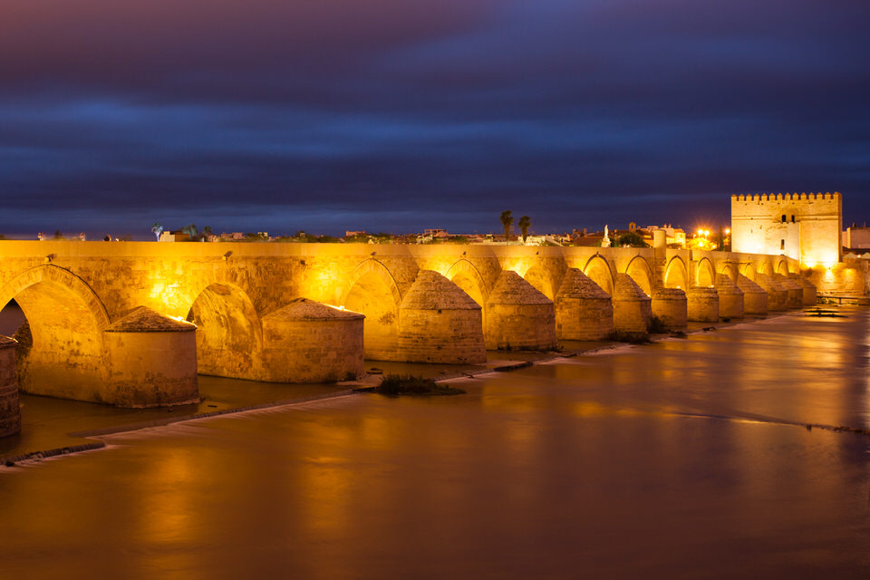 Cordoba bridge by twilight