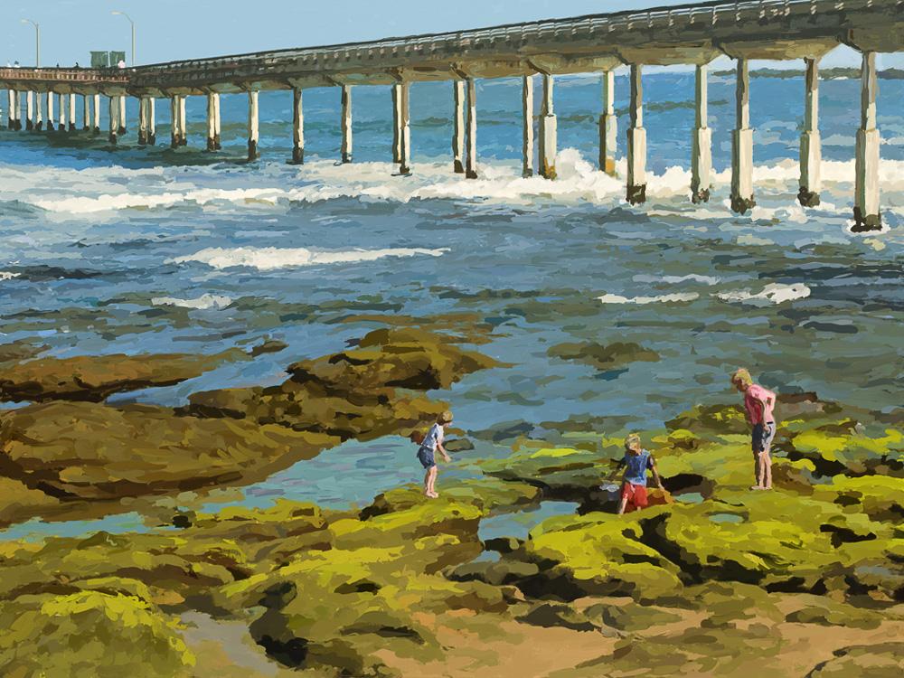 OceanBeachPier&TidePools_12x16.jpg