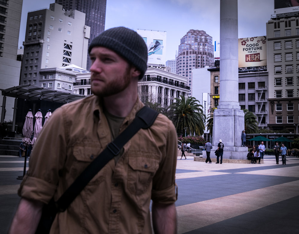 When I write, my mind often hovers in a space I've been before; My mind was in Union Square, San Francisco while I wrote this at home. Surrounded by big retailers and close to my classes, in a way this space represents the common goals and values I've come to identify with general society.