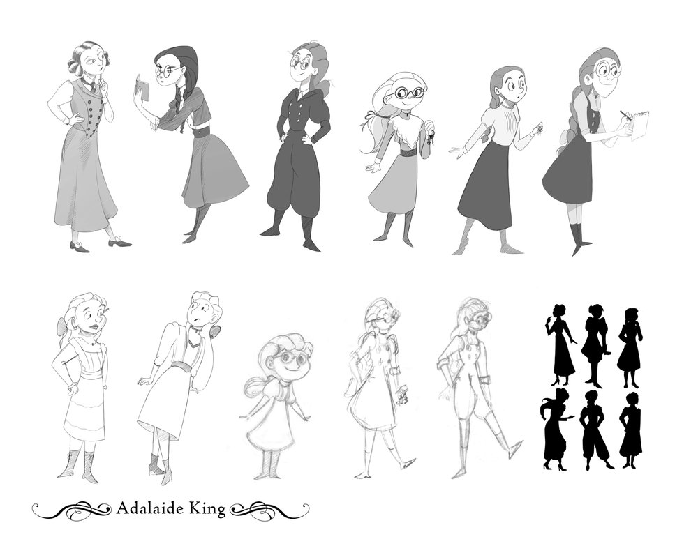 Adalaide King - Development Sketches