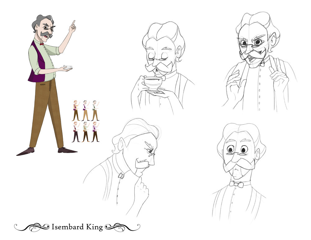 Isembard King - Expression Sheet